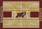 Minnesota Golden Gophers Home Court Area Rug