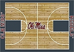 Ole Miss Rebels Home Court Area Rug