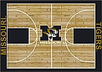 Missouri Tigers Home Court Area Rug