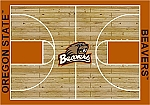 Oregon State Beavers Home Court Area Rug