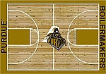 Purdue Boilermakers Home Court Area Rug