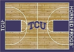 Texas Christian University Horned Frogs Home Court Area Rug