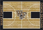 Wake Forest Demon Deacons Home Court Area Rug