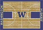 Washington Huskies Home Court Area Rug