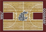 Washington State Cougars Home Court Area Rug