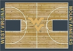 West Virginia Mountaineers Home Court Area Rug