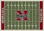 Nebraska Cornhuskers Home Field Area Rug
