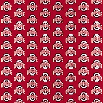 Ohio State Buckeyes Repeat Logo Area Rug