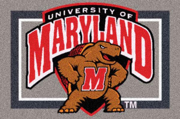 Maryland Terrapins Team Logo Area Rug
