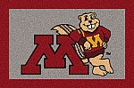Minnesota Golden Gophers Team Logo Area Rug