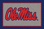 Ole Miss Rebels Team Logo Area Rug