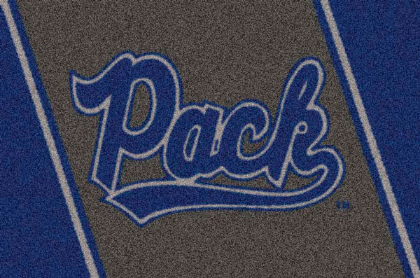 Nevada Wolf Pack Team Logo Area Rug