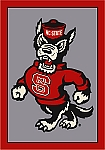 North Carolina State Wolfpack Alternate Team Logo Area Rug