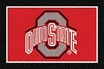 Ohio State Buckeyes Team Logo Area Rug