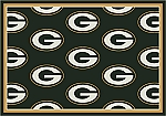 Green Bay Packers Repeat Logo Area Rug 2