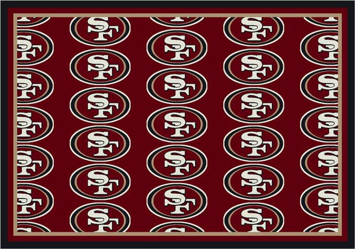 San Francisco 49ers Repeat Logo Area Rug