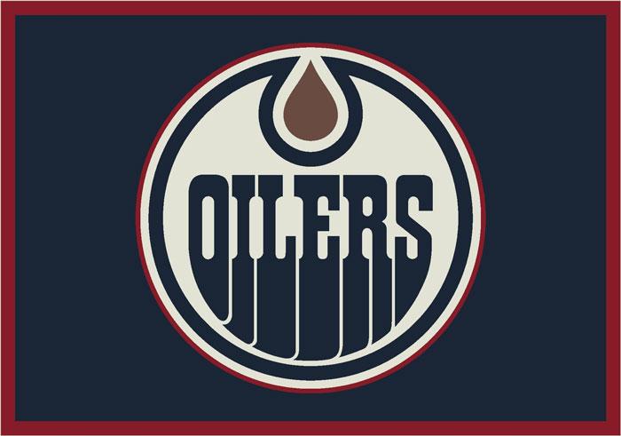 Edmonton Oilers Team Logo Area Rug
