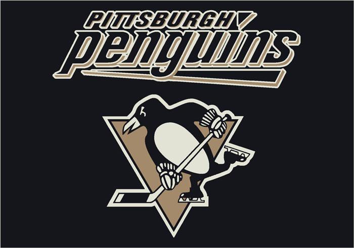 Pittsburgh penguins team logo area rug for Pittsburgh penguins logo coloring page