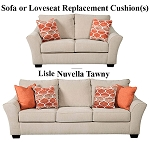 Ashley® Lisle Nuvella Tawny replacement cushion cover, 1120138 sofa or 1120135 love