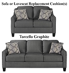 Ashley® Torcello Graphite replacement cushion cover, 1130338 sofa or 1130335 love