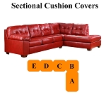 Ashley® Alliston Salsa Sectional replacement cushion and cover, 20100