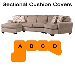 Ashley® Patola Park Sectional replacement cushion and cover, 12900