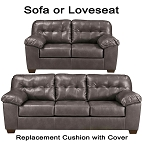 Ashley® Alliston Grey replacement cushion and cover, 2010238 sofa or 2010235 love