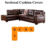 Ashley® Alliston Chocolate Sectional replacement cushion and cover, 20101