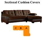Ashley® Vanleer Chocolate Sectional replacement cushion and cover, 15900