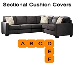 Ashley® Alenya Charcoal Sectional replacement cushion and cover, 16601