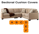Ashley® Alenya Quartz Sectional replacement cushion and cover, 16600
