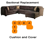 Ashley® Delta City Steel Sectional replacement cushion and cover, 19700