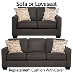 Ashley® Alenya Charcoal replacement cushion cover,  sofa 1660138 or 1660135 love