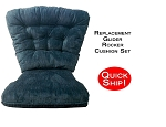Quick Ship! Glider Rocker Cushion Set - Denim