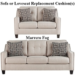 Ashley® Marrero Fog replacement cushion cover, 2370238 sofa or 2370235 love