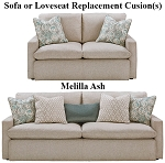 Ashley® Melilla Ash replacement cushion cover, 2830238 sofa or 2830235 love