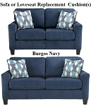 Ashley® Burgos Navy replacement cushion cover, 3280338 sofa or 3280335 love