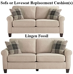 Ashley® Lingen Fossil replacement cushion cover, 3300238 sofa or 3300235 love