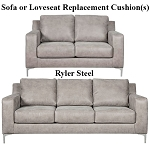 Ashley® Ryler Steel replacement cushion cover, 4020138 sofa or 4020135 love