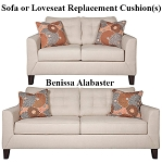 Ashley® Benissa Alabaster replacement cushion cover, 4170238 sofa or 4170235 love