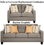 Ashley® Daylon Graphite replacement cushion cover, 4230438 sofa or 4230435 love