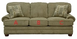 Jackson®Braddock Mineral 423803 Sofa or 423802 Love Seat Replacement Cushion Cover