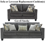 Ashley® Gavril Smoke replacement cushion cover, 4300138 sofa or 4300135 love