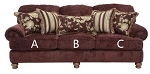 Jackson®Belmont Claret 434703 Sofa or 434702 Love Seat Replacement Cushion Cover