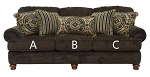 Jackson®Belmont Mahogany 434703 Sofa or 434702 Love Seat Replacement Cushion Cover