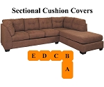 Ashley® Maier Sectional replacement cushion and cover, 45201