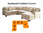 Ashley® Luxora Sectional replacement cushion and cover, 52501