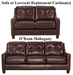 Ashley® O'Kean Mahogany replacement cushion cover, 5910538 sofa or 5910535 love
