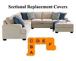 Ashley® Enola Sectional replacement cushion and cover, 61500