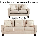 Ashley® Forsan Nuvella Sand replacement cushion cover, 6690538 sofa or 6690535 love